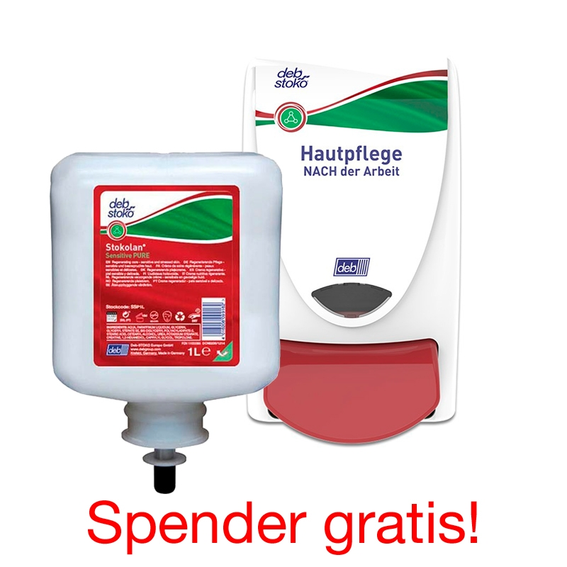 Stokolan Sensitive PURE  |  Set 6 x 1 Liter inkl. Spender